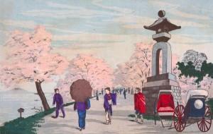 小林清親 「墨田堤の花見」 (1876)